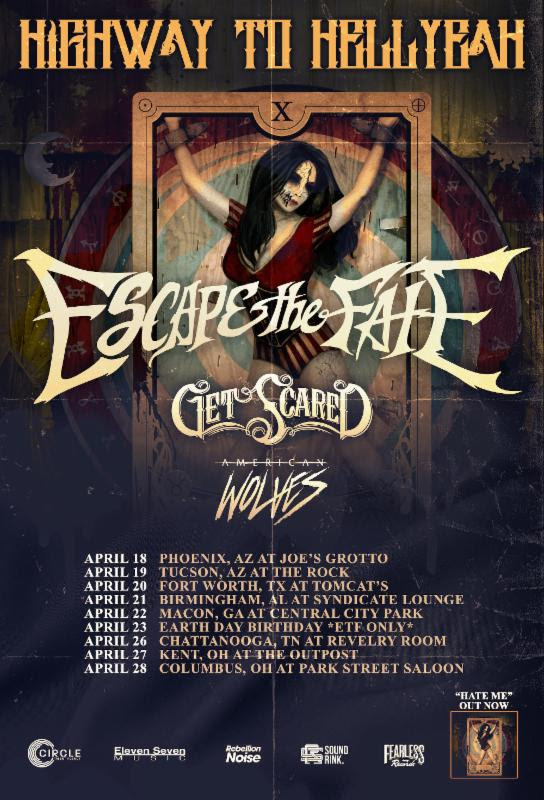 Escape The Fate Announce The Quot Highway To Hellyeah Tour