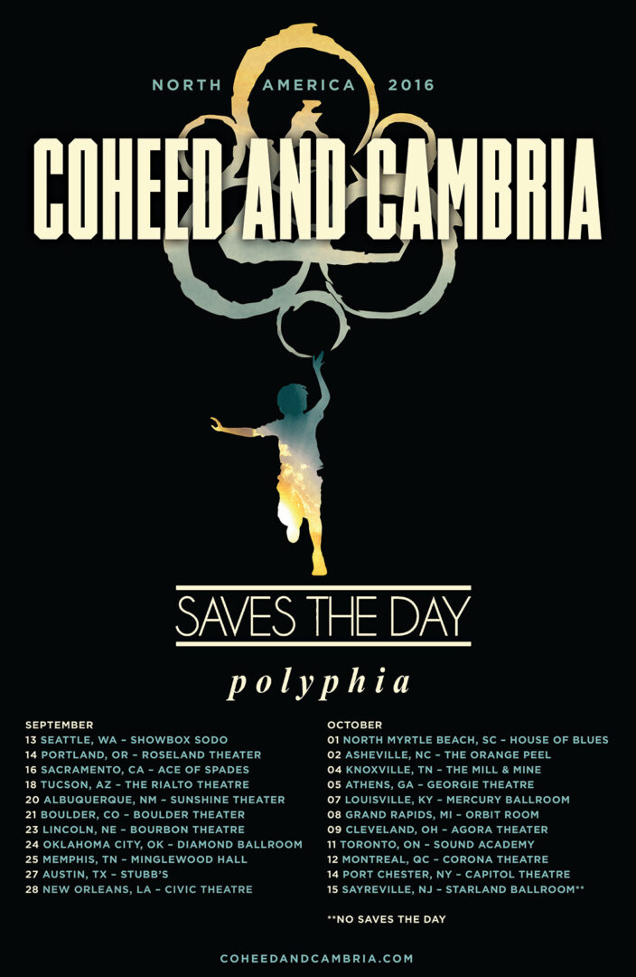 Coheed and Cambria - North American Tour - poster