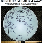 Drumhead Signed by Set It Off, Circa Survive, Hawthorne Heights + More – Giveaway