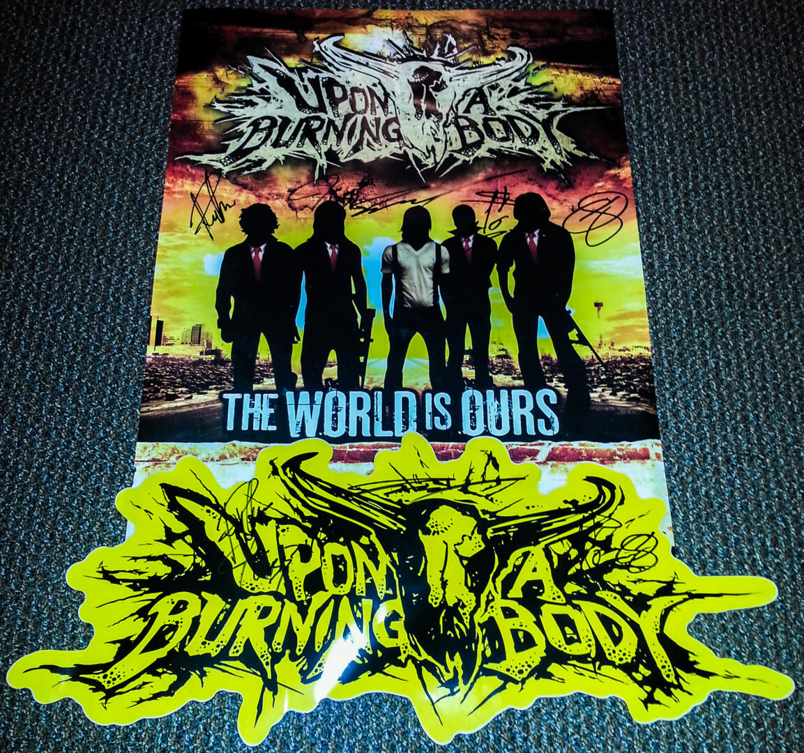 Upon A Burning Body Signed Poster and Sticker - Contest