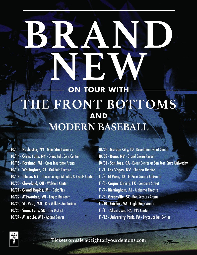 Brand New - Fall U.S. Tour - poster