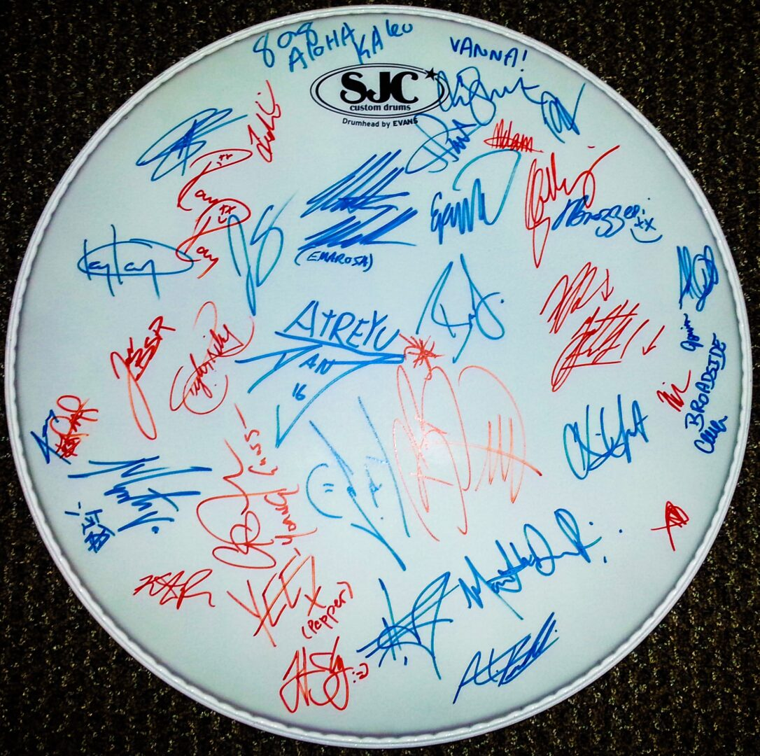 Warped Tour 2016 Signed Drumhead Giveaway 1