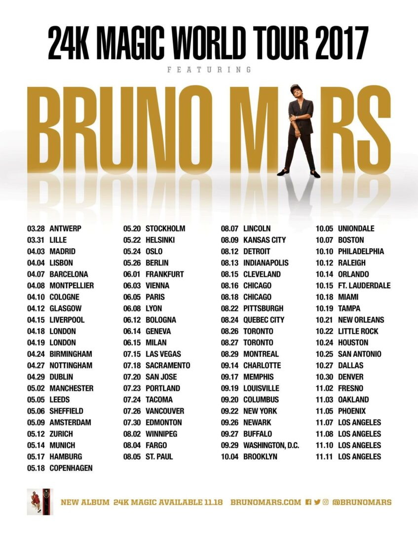 Concert Review Bruno Mars -- Toronto, Ontario -- August -8274