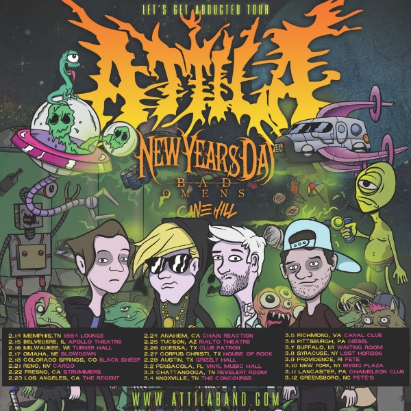 Attila Announces The Quot Let S Get Abducted Tour Quot Digital