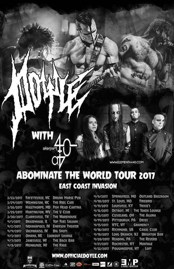Doyle - Abominate the World Tour - poster