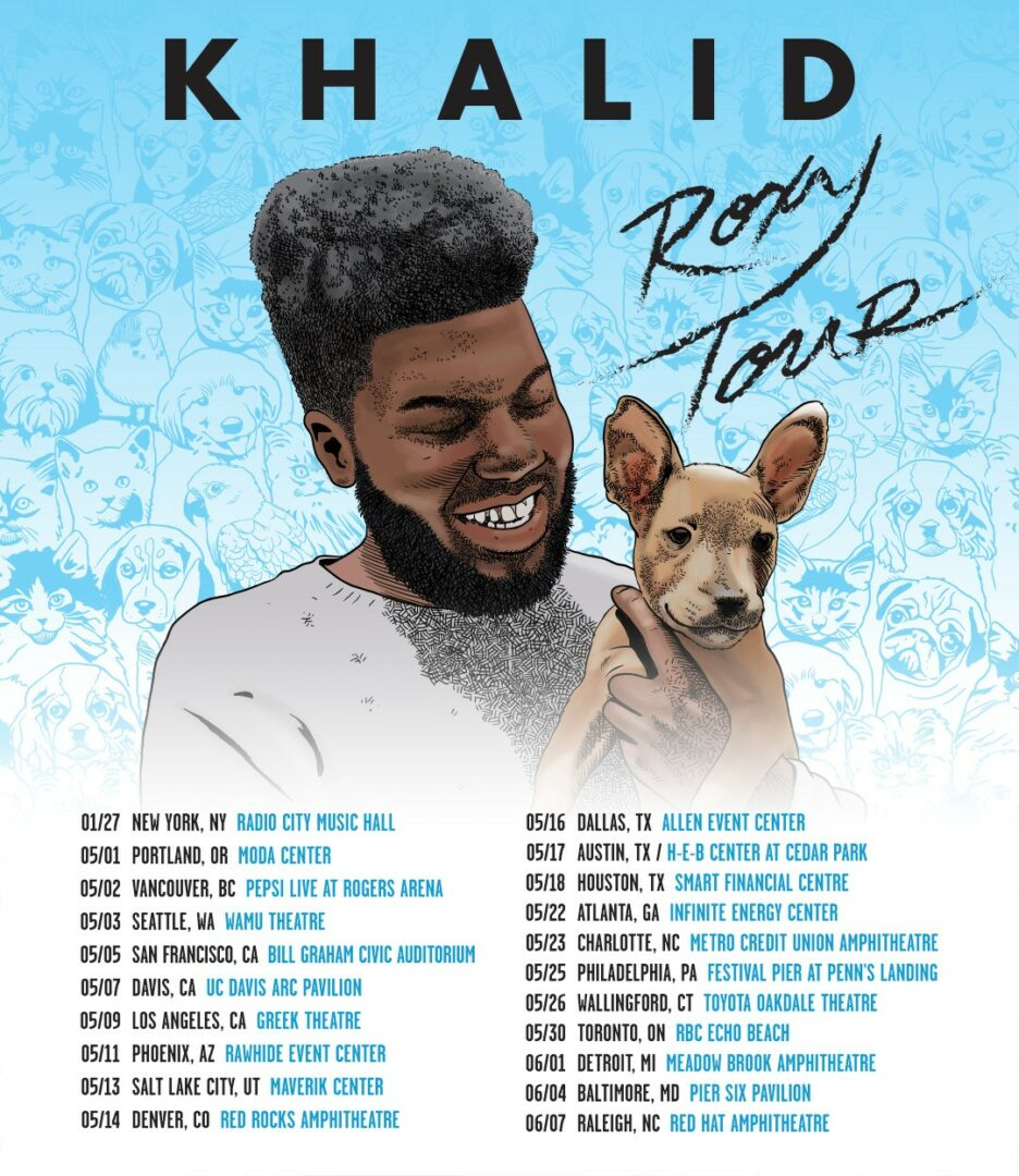 khalid announces north american the roxy tour digital tour bus. Black Bedroom Furniture Sets. Home Design Ideas
