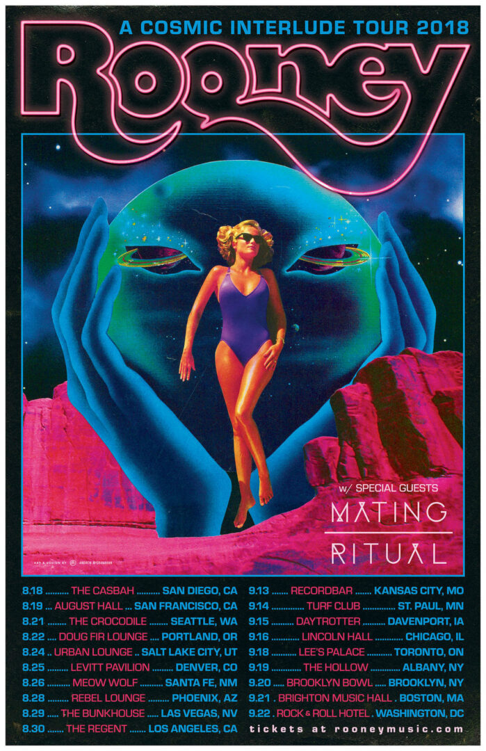 rooney a cosmic interlude tour poster